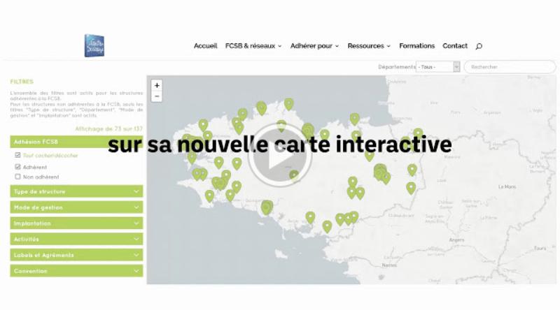 Une nouvelle carte interactive pour notre réseau !
