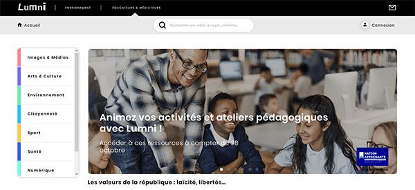 LUMNI, la nouvelle plateforme pédagogique éducative