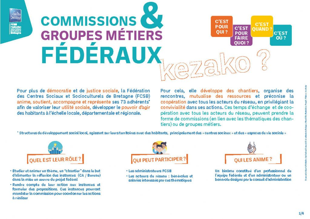 Plaquette Commissions et groupes metiers FCSB